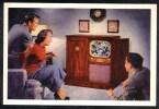 CP Publicité Américaine Pour L´un Des Premiers Téléviseurs Commerciaisés. (251) - Publicidad