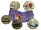 STATI UNITI D'AMERICA  UNITED STATES OF AMERICA 2001 5 QUARTER DOLLAR COINS - Émissions Fédérales