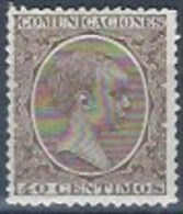 ES223-L2571TCSC.España. Spain .Espagne.Rey ALFONSO Xlll  Joven. 1901/5.(Ed 223*) Con Charnela. MAGNIFICO - Celebridades