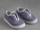 Baskets Violettes Velours Côtelé Premier Age. Made In USA .Voir Photos. - Shoes