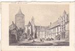 20610 Chateau -carte Supra Paris, Beau Papier Façon Gravure - Vallée Loire France Chateaudun Vue Cour - Châteaux