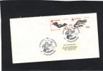 France  FDC Yvert N° 2416 Et 2147 EUROPA Strasbourg - Animaux Genette Chauve Souris - - 1986