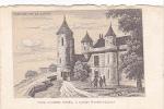 20615 Chateau -carte Supra Paris, Beau Papier Façon Gravure - Vallée Loire France - Tour Agnes Sorel Loches