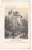 20617 Chateau -carte Supra Paris, Beau Papier Façon Gravure - Maine Anjou -Ballon Sarthe Wismes