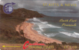 ST.KITTS & NEVIS(GPT) - South East  Peninsula, CN : 3CSK(error), Tirage %10500, Used - St. Kitts En Nevis