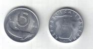 RedF - REPUBBLICA 1969 , 5 Lira Delfino Da Rotolino - 1946-… : Repubblica