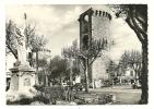 Belle CPSM Sisteron (04) - Monument Aux Morts, Vieille Tours Et L'Hôtel Du Cours (Photo Véritable) - Sisteron
