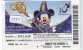 Disney Passeport Entreecard JAPON * TOKYO DISNEYLAND *  Passport (1050) JAPAN * STOCKHOLDERS - Disney