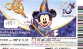 Disney Passeport Entreecard JAPON * TOKYO DISNEYLAND *  Passport (1051) JAPAN * STOCKHOLDERS - Disney