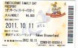 Disney Passeport Entreecard JAPON * TOKYO DISNEYLAND *  Passport (1052) JAPAN * CHIP'N DALES - Disney