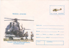 MEDIUM FIGHT HELICOPTER READY FOR MISSION, MILITARY, 1996, COVER STATIONERY, ENTIER POSTAL, UNUSED, ROMANIA - Helicopters