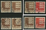 DANIMARCA - 1946 / 69 - STEMMA - N. 304 / 305 Usati - Cat. 1,60 € - L. N. 427 / 28 / 30 - Usati