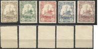 Deutsche Kolonien (Ostafrica) - N. Michel 22, 23, 24, 25, 27 - Kolonie: Deutsch-Ostafrika