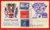 SALVADOR 1ER VOL LETTRE DE 1943 DE SAN SALVADOR POUR SAN JOSE COSTA RICA COVER - Salvador