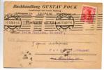 Lot 721: C.P Avec TP Perforé De La Librairie Gustav Fock De Leipzig Pour Emile Bouillon Editeur à Paris Le 08.10.1910 - Sonstige