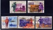 CANADA, 1996, USED # 1606a-e,  YUKON GOLD RUSH  ,   USED    WYSIWYG - Oblitérés