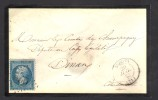 FRANCE 1863 N° 22 Obl. S/Lettre Entiére GC 650  & C à D Broons Indice 6 - 1862 Napoleon III
