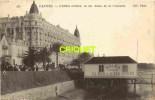 Cpa 06 Cannes, Hotel Carlton Et Bains De La Croisette, Verso Cachet Service à La Mer - Cannes