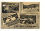 $3-2020 Campania CONTURSI TERME Vedutine Viaggiata 1956 Fori Archivio - Italia