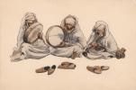 SCENES & TYPES Par R. IRRIERA Illustratreur SERIE N°3 MUSICIENS Helio B.F. Alger - Illustrateurs & Photographes