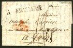 Pli De MADRID De 1829 En Port Du Avec Marques  M Pte PAGADO HASTA LA RAYA + ESPAGNE PAR St JEAN-DE-LUZ Pour LYON - ...-1850 Vorphilatelie
