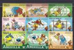Anguilla, Year 1982, Mi 501-509, Disney Figures World Cup Football 1982, MNH ** - Anguilla (1968-...)