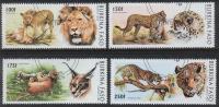 Burkina Faso - Félins 999/1002 Oblit. - Big Cats (cats Of Prey)