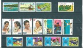 Niue: 122/ 124 + 129/ 140 ** - Niue