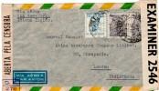 Transoceanic  Brazil Via New York To England Double Censored Cover 1944 - 2. Weltkrieg