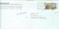 STORIA  POSTALE - FOLCLORE  AMALFI  £. 350 - S 1715 - ISOLATO  IN TARIFFA SU FATTURA COMM. APERTA ,  VIAGGIATO  1985 - - 1981-90: Storia Postale
