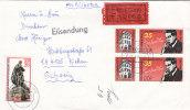 DDR  EIL-Brief Mit 2925, 2939, W Zd 625 MiF, Stempel: Dresden 2.5.85, Bedarfsbrief In Die Schweiz - Zusammendrucke