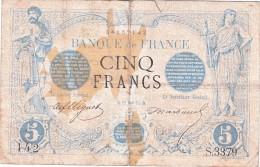 **** BILLET 5 FRANCS NOIR 19 JANVIER 1874 **** EN ACHAT IMMEDIAT !!! - 1871-1952 Anciens Francs Circulés Au XXème