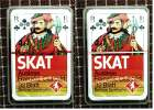2 X SKAT - Berliner Spielkarten  -  Mit Holsten Brauerei - Rückseite - Denk- Und Knobelspiele