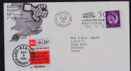 1961  50th Ann Of First Aerial Post Flight In UK  Souvenir Cover With BEA 11 D. Vignette - 1952-.... (Elizabeth II)