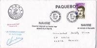 Marseille Paquebot 1990 Sur Lettre Marion Dufresne (navire Des TAAF ) - Terres Australes Et Antarctiques Françaises (TAAF)