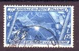 REGNO 1932 N.336 MARCIA SU ROMA 1,25c. AZZURRO USATO 1 VALORE - Oblitérés