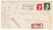 Aangetekend Poststuk Rothenhaus Uber Gorkau - Occupation 1938-45
