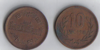 2  JAPAN 8 PENCE COINS - - Japan