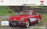 Telecarte Japon CHEVROLET CORVETTE 1958 (36) Auto * Voiture * Car *  Phonecard JAPAN  * Telefonkarte * OLDTIMER - Auto's