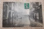 Paris  - Innondation 1910 - La Rue Saint André Des Arts - Circulée 1912 - Carte Publicité : Aux Phares De La Bastille - Inondations De 1910