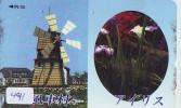 Télécarte Japon * MOULIN (491) WINDMILL * Phonecard * Mühle * TELEFOONKAART JAPAN * MOLEN - Paisajes