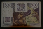 """FRANCE - Billet De 500 Francs """"Chateaubriand"""" - Type 1945 - 1871-1952 Circulated During XXth"""