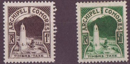 Grande Comore N° 1 Et 2**, Neuf Sans Charniere  TAXE - Grote Komoren (1897-1912)