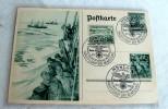 AK Hauptstadt Der Bewegung Sonderstempel, Hoheitszeichen Wurde Am PC Verwischt - Weltkrieg 1939-45