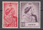 Aden 1949 Silver Wedding, Mint No Hinge, Sc# 30-31 - Aden (1854-1963)