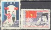1965 North Viet Nam: Friendship Between Viet Nam And China Sc 383-4 / YT 457-8 / Mi 399-00 Used/oblitere/gestempelt [ra] - Viêt-Nam
