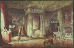 """""""King James I Bedroom, Knole""""  A C1910 Salmon Postcard (number 519),  Based On A Painting By 'C Essenhigh Corke'. - England"""
