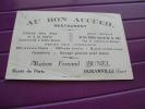 Carte De Représant Ou Carte De Visite. Au Bon Accueil. Restaurant. . Duranville. Eure. Maison Fernand Bunel - Cartes De Visite