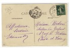 """FACTEURS BOITIERS 84  -  """" LAMANON  /  B.DU.RHONE  /  24-8-18 """" - Pothion N° 369 - Postmark Collection (Covers)"""