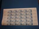 N°1038 En Demi Feuille De 25 Timbres Neuf** - Full Sheets